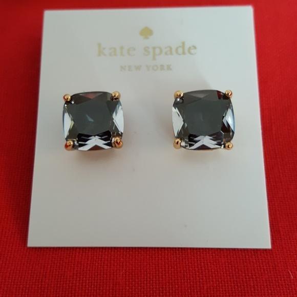 Kate Spade Jewelry - BRAND NEW KATE SPADE BLACK CRYSTAL STUD EARRINGS